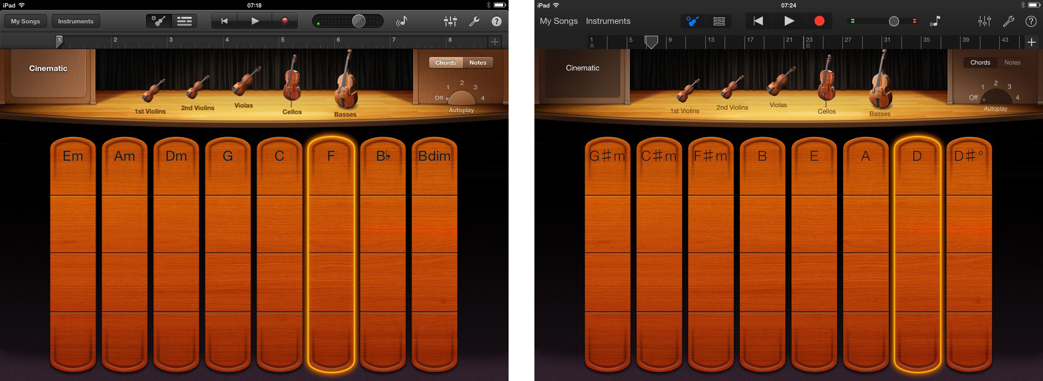 iMovie, iPhoto, GarageBand and Pages iOS 7 comparisons