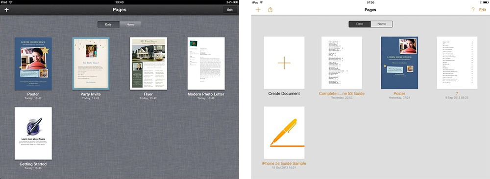 Pages iOS 7 Comparison 0 thumb