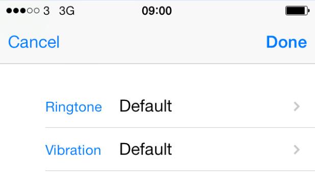 Ringtone iOS 7