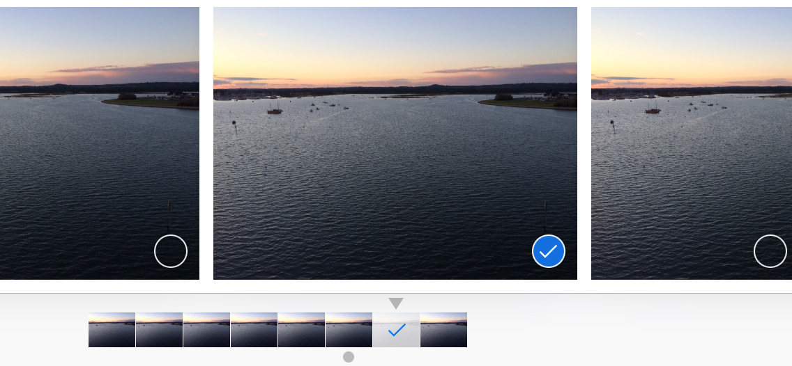 Select a favorite burst mode iPhone 5s