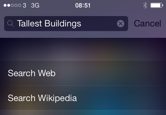 Updated Spotlight Search iOS 7.0.3