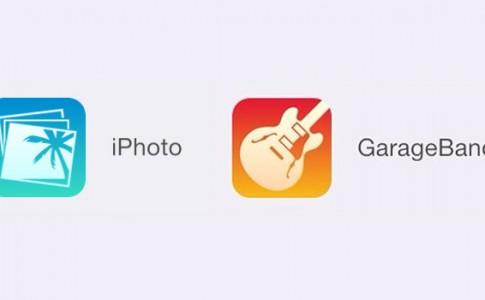 iPhoto Garageband icons