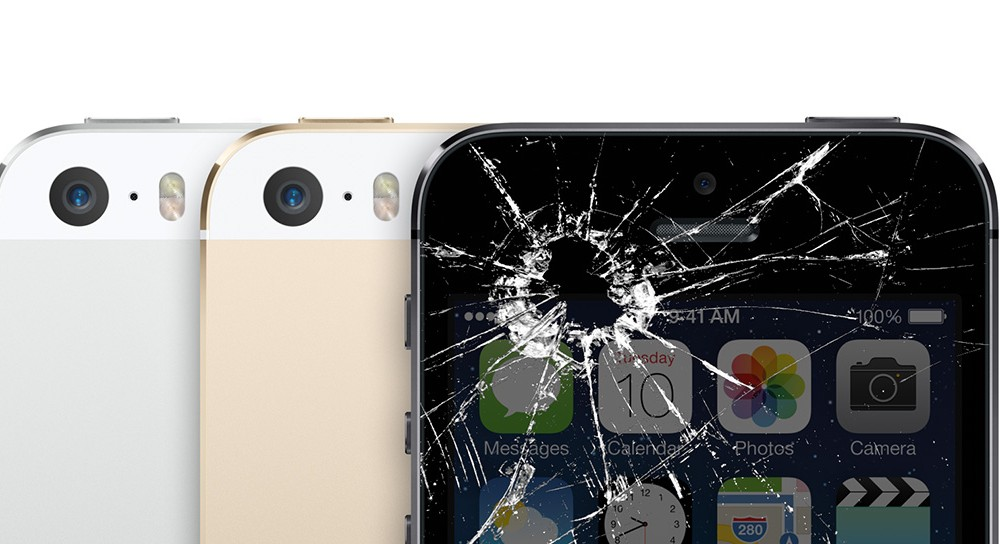 Smashed Broken iPhone 5s screen