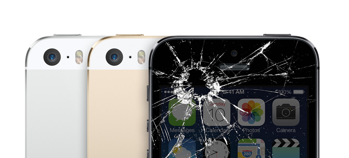 Smashed Broken iPhone 5s screen