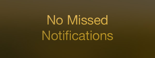 Updated text Notification Center iOS 7