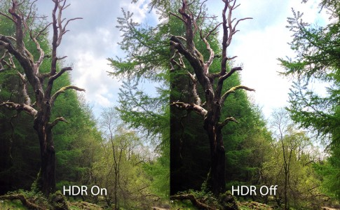 HDR before after iPhone