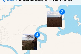 Photos on a map iPhone iOS 7