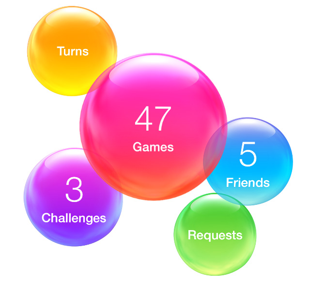 Game Center bubbles