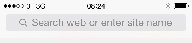 iOS 7 beta 3 Safari text