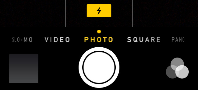 iOS 7 beta 3 camera flash icon