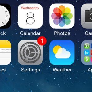 iOS 7 beta 3 update