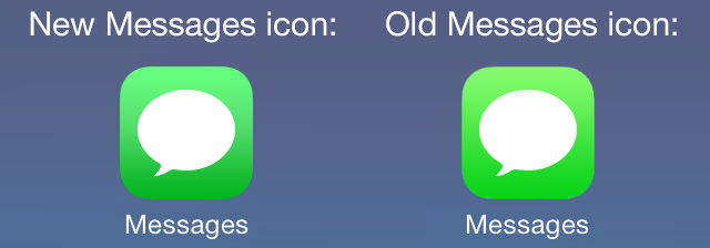 iOS 7 beta 3 updated messages icon