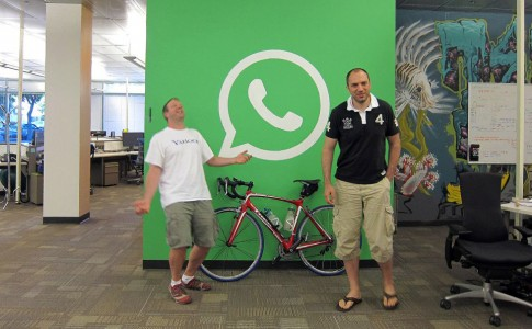 WhatsApp Brian Acton team in office
