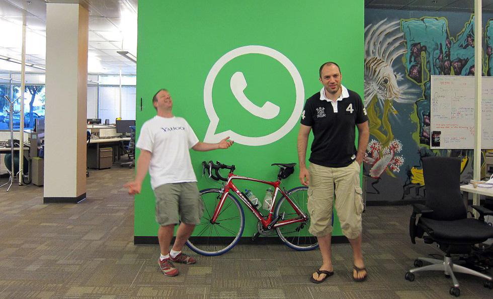 WhatsApp Brian Acton team in office