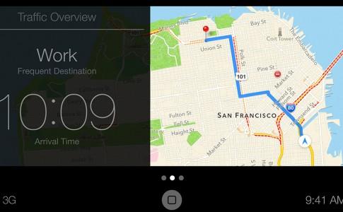 CarPlay maps interface