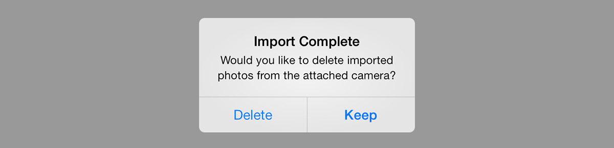 Keep or delete images