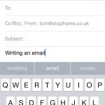 iOS 8 Draft email