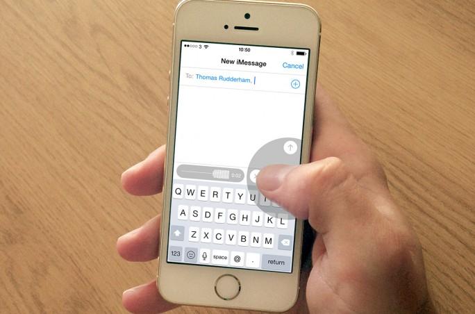 Record audio message iPhone iOS 8