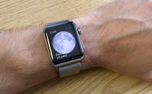 See full moon on Apple Watch