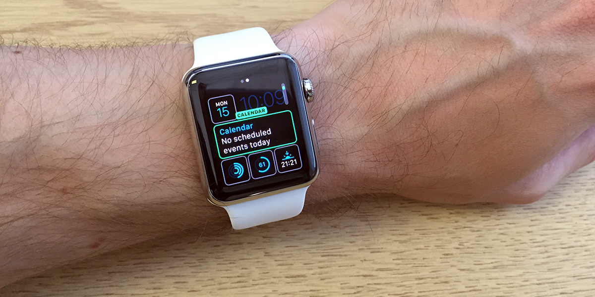 See calendar events Apple Watch face