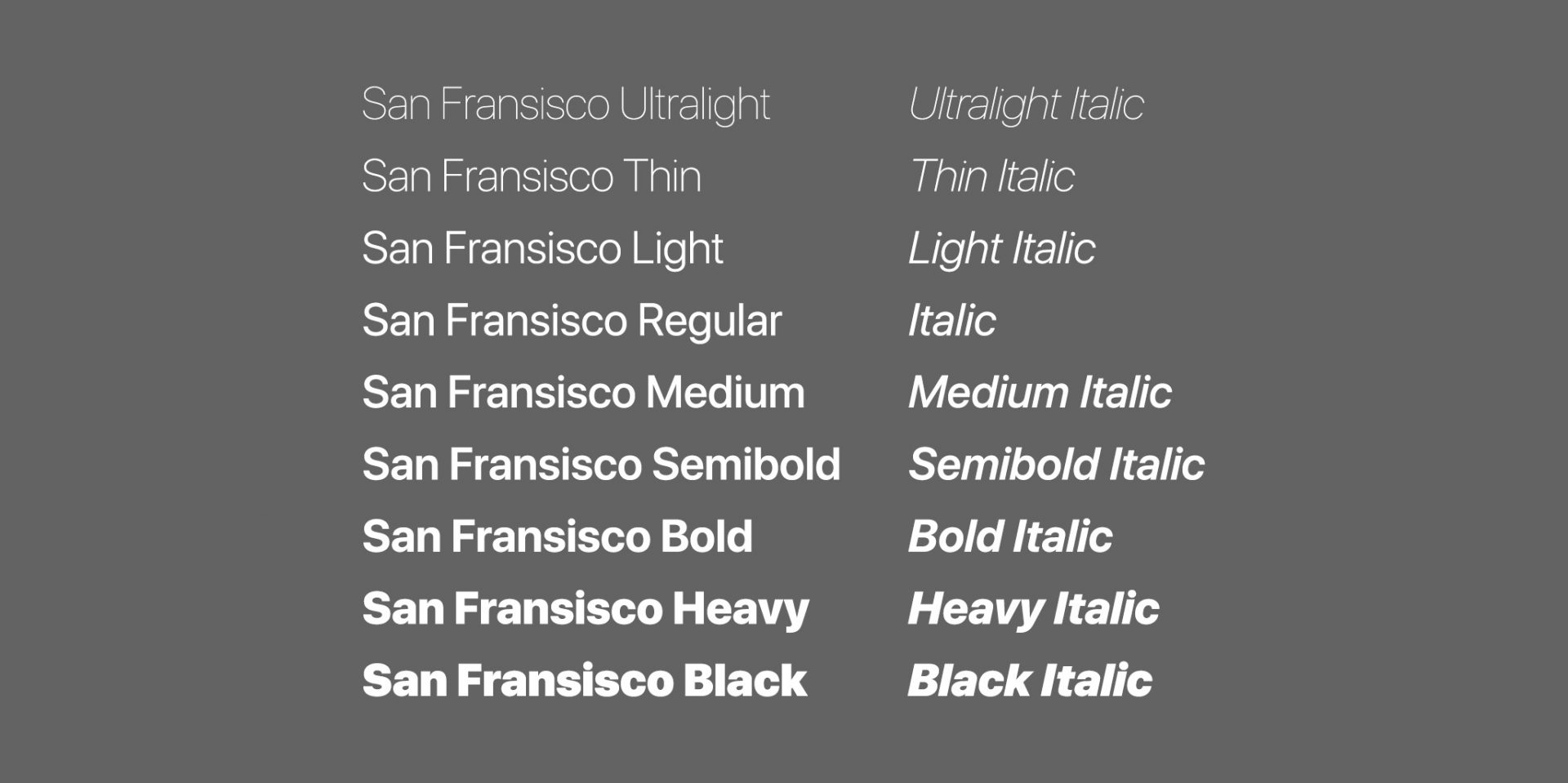 Download San Fransisco Pro Font From IOS 11