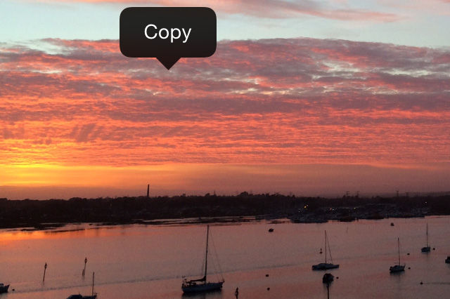 Copy image on iPhone