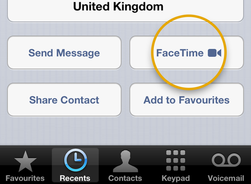1 Use FaceTime to call