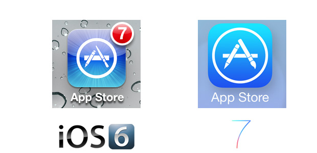 App Store iOS 7 Icon Comparison