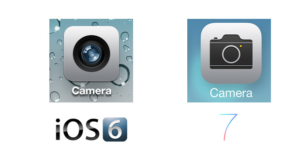 Camera iOS 7 Icon Comparison