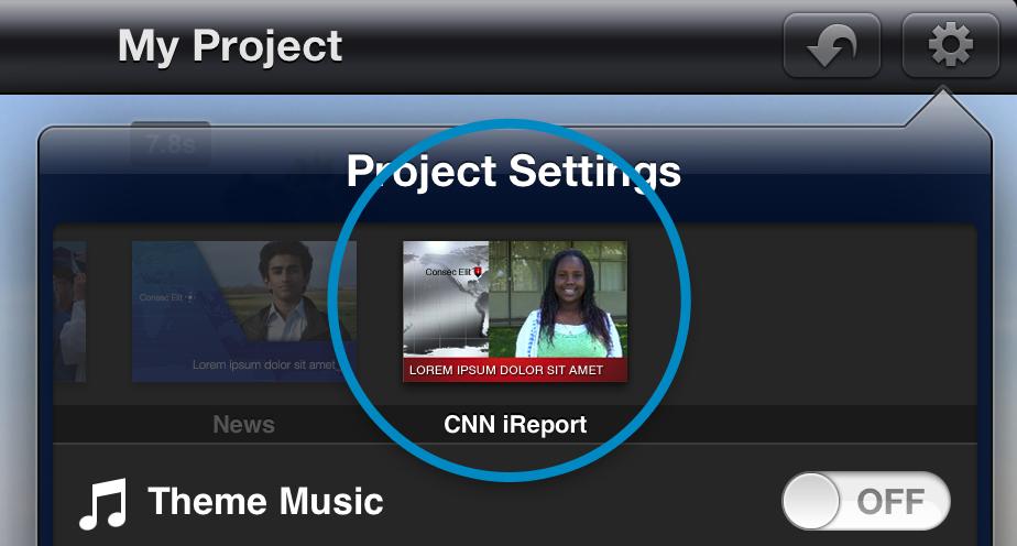 8. CNN iReport theme