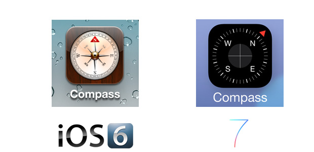 Compass iOS 7 Icon Comparison