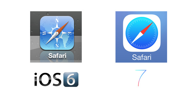 Safari iOS 7 Icon Comparison