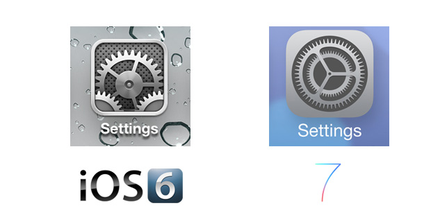 Setting iOS 7 Icon Comparison