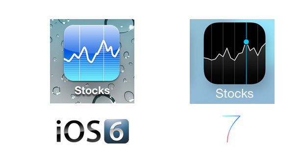 Stocks iOS 7 Icon Comparison