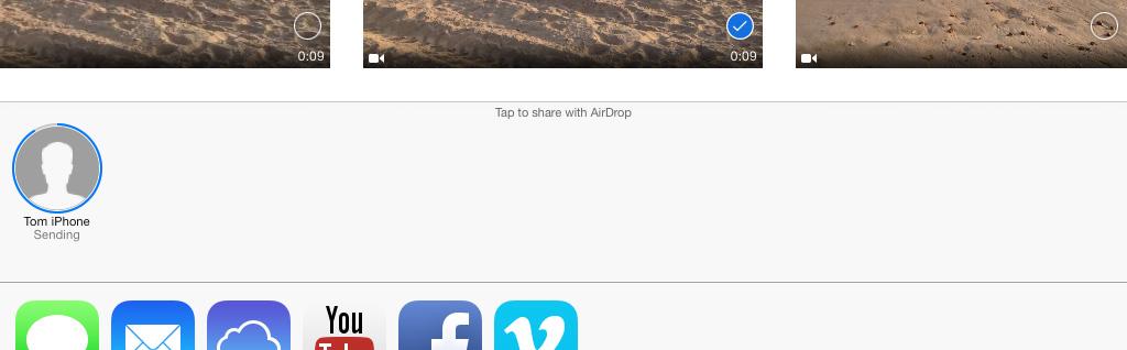 AirDrop animation iPad
