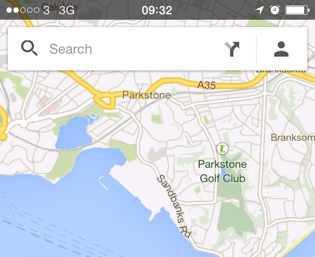 Google Maps Search Bar iPhone