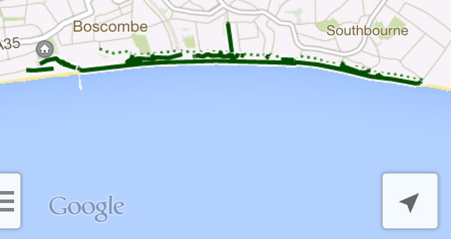 Google Maps iPhone Cycling