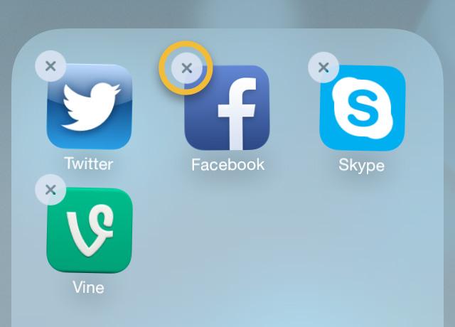 How do I delete an app