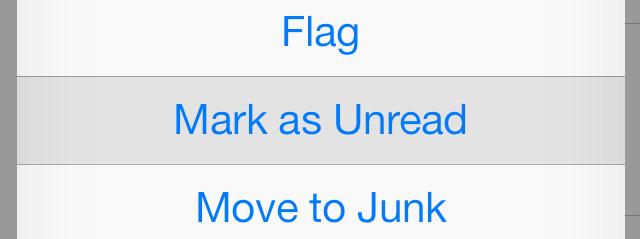 Mark as unread iOS 7