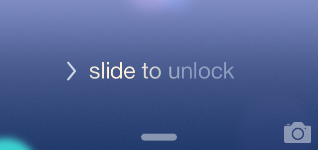 iOS 7 beta 4 Lock Screen