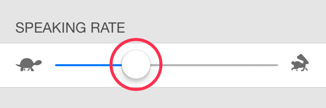 iPhone Speaking Rate