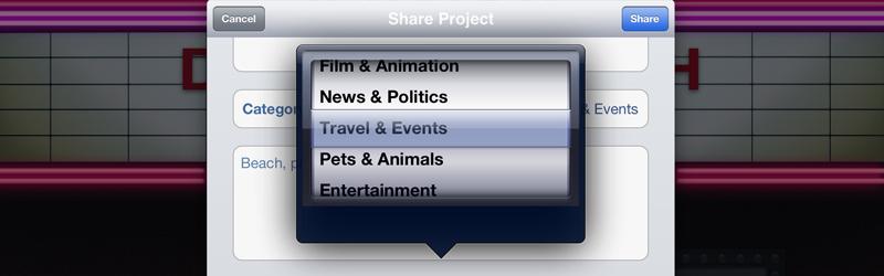 iMovie YouTube Category