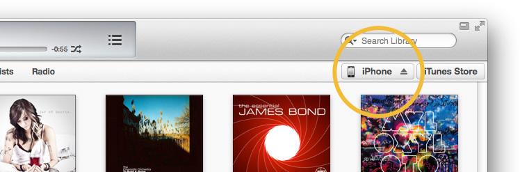iPhone in iTunes