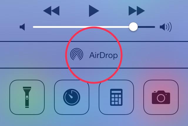 turn on airdrop ios 7