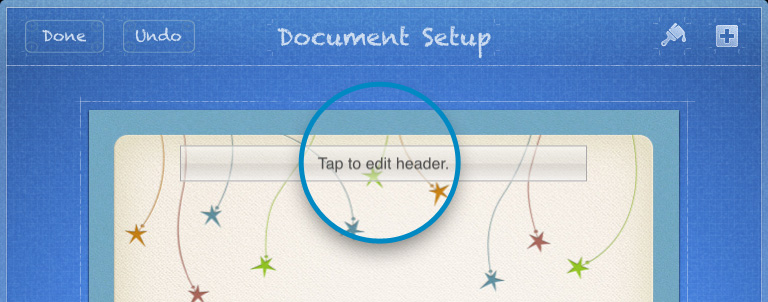 Edit header in Pages for iPad iPhone