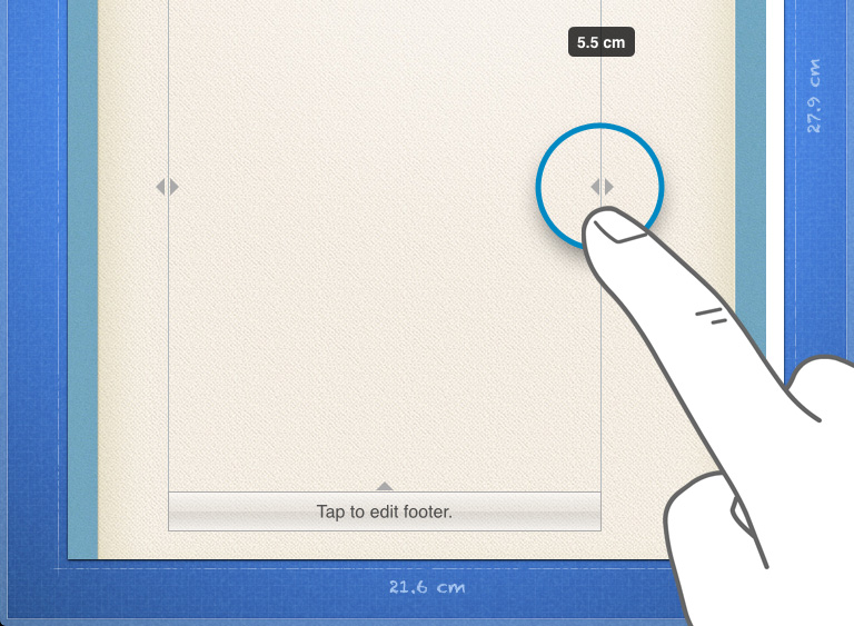 Edit margins in Pages for iPad iPhone