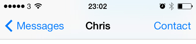 Messages in iOS 7 beta 5
