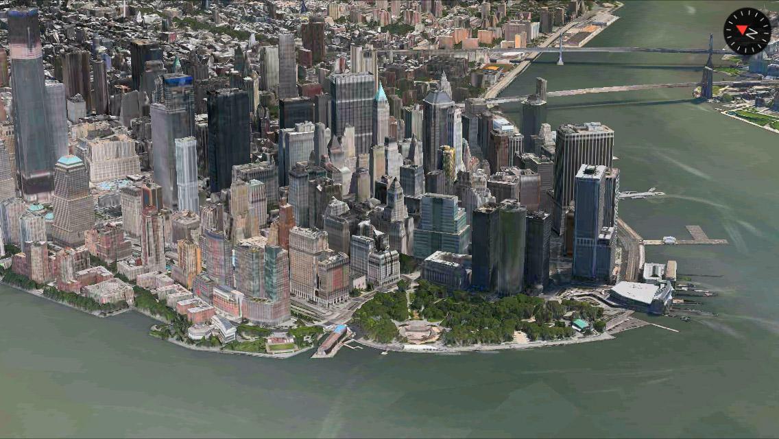 New York 3D Maps app iPhone