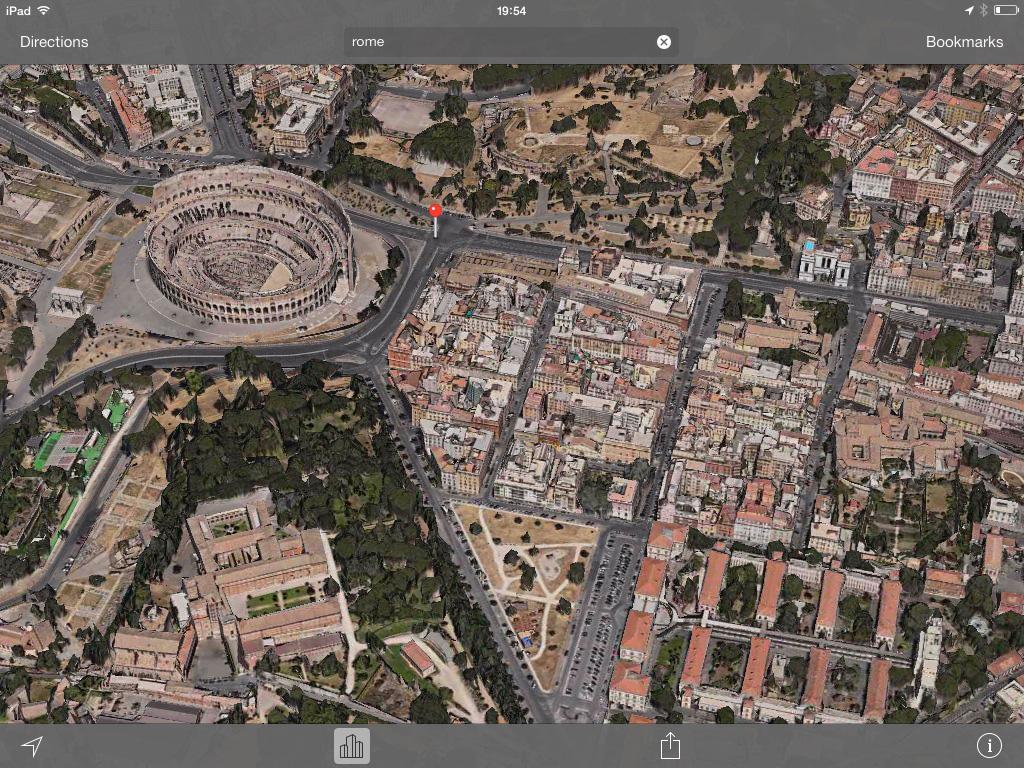 Rome 3D Maps app iOS 7