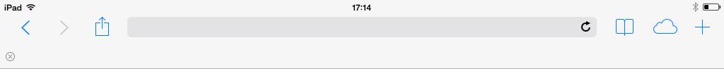 Safari Address Search Bar iPad iOS 7